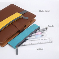 band organizer - Newest Creative Suede Leather Pencil Case With Elastic Band Pencil Bag Organizer For Gifts Office School Suppies Escolar Papelar