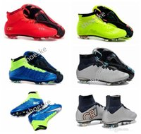 Wholesale 2016 Mercurial Superfly FG Kids Soccer Shoes Boots CR7 Cleats Laser Youth Women Boy s Football Sneakers Eur Size
