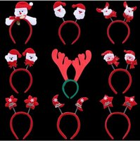 best original costumes - hot hot hot Adult Kids Christmas Xmas Novelty Headband Snowman reindeer Santa Claus headband best gift for christmas day party gift