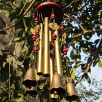 Wholesale Amazing Tubes Bells Copper Alloy Outdoor Living Wind Bells cm Yard Garden Decor