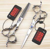 barbers equipment - Kasho Inch Hot Professional Hairdressing Scissors Hair Cutting Scissors Barber Shears Set Hairdresser Tool Salon Equipment Kit