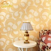 Wholesale Modern Simple Geometric Non woven Wallpaper Roll Bedroom Living Room Sofa TV Background Wall Paper For Home Wall Decoration