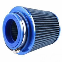 Wholesale Universal mm Car High Flow Cold Air Intake Filter Washable Cleaner Fuel Saver Blue