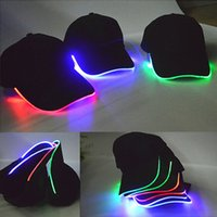 Wholesale New Hot Good Selling Night LED Holiday Light Emitting Baseball Hat Battery Prepare By Yourself