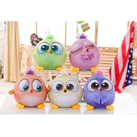 Wholesale 2016 New CM Cartoon Angry Birds Plush Toys Stuffed Animals Doll D Printed Children Funny Gift