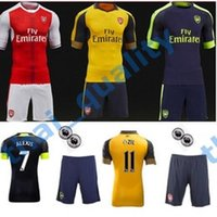 Wholesale Arsenal Uniforms Kit Soccer Jerseys Suit Football Shirts ALEXIS WILSHERE GIROUD CHAMBERS
