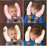Wholesale Baby Toddler Safty Protection Chilren Protect Neck Soft Car Headrest Pillow Sleeping Head Pillow Travel Cartoon Stuffed Plush Car