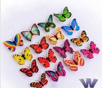 al por mayor noche de mariposa-Romántico colorido LED luz de la noche de la mariposa sueño cama lámpara de luz de la noche de la iluminación del hogar para la luz de la noche de la sala de bodas