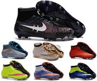 Cheap 2016 Mercurial superfly outdoor cleats original athletic football shoes outdoor soccer shoes for men wholesale soccer cleats voetbalschoenen