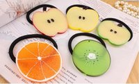 apple hair clips - Originality Cute Fruit Apple Watermelon Lemon Hair Band Hair Rope Hair Clip Rubber Band For Women Hair AccessoriesWA0024