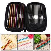 Wholesale High Quality Set Multi colour Aluminum Crochet Hooks Needles Knit Weave Craft Yarn
