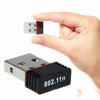 Tarjeta LAN Dongle WiFi adaptador de red inalámbrica Wi-Fi WiFi del adaptador Ethernet externo 2016 Nuevo 150Mbps Mini Wi-Fi USB para SKYBOX / ordenador portátil