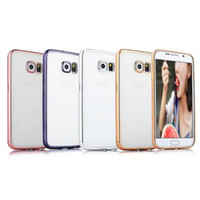 Wholesale Case For SamsungGalaxy Note Note5 S6 S6Edge S6 Edge plus S7 S7 edge Ultra thin Soft TPU Electroplate Case up