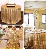 Wholesale 72 quot Round Rose Gold Sequin Glamorous Tablecloth Sequin Tablecloth Wedding Cake Tablecloth Event Party Banquet