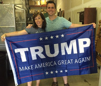 Wholesale Donald Trump x5 Foot Flag Make America Great Again Donald for President USA American With Brass Grommets