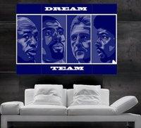 art prints birds - Dream Team Michael Jordan Magic Johnson Larry Bird Julius Erving Dr J Poster print wall art parts giant huge NO3