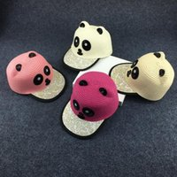 beige boys hats - 2016 new children hats straw hats for kids cute panda hats caps youth hats snapbacks hats beach hats colours
