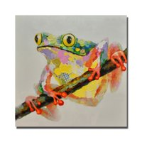artist picture - Nice Frog Painting Hand Painted By Artist Pictures for Living Room Wall Modern Canvas Art Animal Oil Painting No Framed