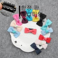 Fall/Winter alien pets - Pet alien BB clip lace bowknot hair clip broken tight is not easy to drop lace bow BB clip