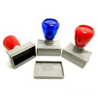 Wholesale Price MM Rectangle self inking rubber stamp casing and material Without Stamp Pad For Office Use