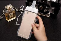 case bb - Fashion D Cute Funny Baby BB Feeding Milk Bottle Nipple Soft TPU Case For Iphone S Plus S S Crystal Cover Skin With Strap