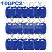 Wholesale 100pcs Rfid Khz Proximity Rfid Id Card Key chain Key Tags Keyfobs for Access Control System