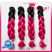 Wholesale Kanekalon Jumbo Box Braiding Synthetic Dreadlocks Hair Extensions quot g Ombre Two Tone Crochet Braid Hair More Colors