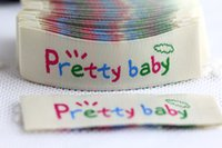 clothing labels - Free design woven label for kids clothing in stock size cm