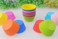 Wholesale Silicone Chocolate Jelly Soap Mould Candy Muffin Cup Cake Baking Molds
