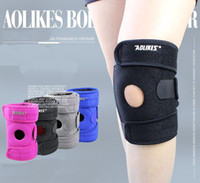 Wholesale AOLIKES Adjustable Sports Knee Support with Four Springs Left and Right Leg Knee Guard Patella Support Belt Brace