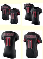 arizona football jersey - 2016 Women Larry Fitzgerald Black Color Rush Limited Jersey T Shirt Arizona Top Quality Drop Shipping