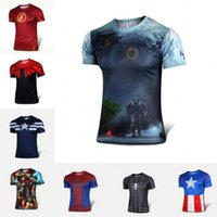 Wholesale New Batman Spiderman Ironman Superman Captain America Winter soldier Marvel T shirt Avengers Costume Comics Superhero mens