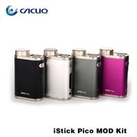 Eleaf iStick Pico 75w TC Box Mod Propulsé par Simple 18650 Batterie Meilleur Matching pour la plus récente Melo III Mini Atomiseur