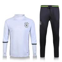 Wholesale 2016 Men Germany Tracksuits Brasil Man City Galatasaray Lyon Germany Mexico Fenerbace Soccer Training Suits longsleeve Football Uniform