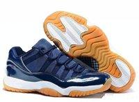 bg blue - Air RETRO XI Low Hot Cheap New Low Retro BG Midnight Navy Blue Brown Gum Bottom Men basketball shoes good Quality street Sneakers