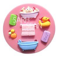 bathtub moulding - M0737 baby bathing goods bathtub SOAP fondant cake molds chocolate mould for the kitchen baking Sugarcraft Decoration Tool