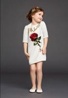 band clothing lines - Cute Elegant Girls Rose Print Sequins Princess Dress Band New Children Kids Clothes Vestidos Evening Party Vest Sundress