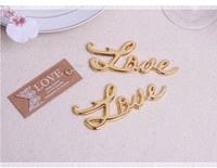 Wholesale 2016 Romantic Gold Silver Color Love bottle opener wedding party favor gift guest present