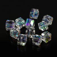 Cristales checo pulseras España-Venta al por mayor de cristal doble cono Perlas de 4 mm (115 / LOT) Checa flojo cristalino de los granos de cristal tallado para los pendientes de la joyería de DIY collar de las pulseras