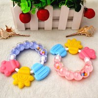 Wholesale 2016 hot sale Silicon Baby Teether Molar Toothbrush Infant Training Tooth Cute Toddler Bell Toys Massager