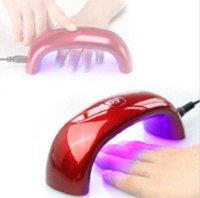 Wholesale 9W Mini Nail Dryer LED UV Lamp For Curing Nail Dryer Nail Gel Polish Dryer Curing Lamp Led Rainbow Lamp For Nail