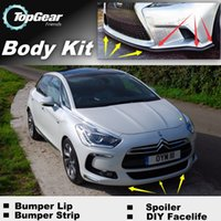 Wholesale Bumper Lip Lips For Citroen DS5 DS LS Front Skirt Deflector Spoiler For Car Tuning The Stig Recommend Body Kit Strip