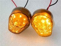 Wholesale 2x Smoke Lens Amber LED Turn Signal Light Blinker Indicator Flush Mount For Kawasaki ZX12R ZX10R Sport Racing Bike