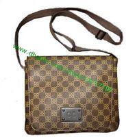 Top grado Brown Canvas recubierto de cuero real de Brooklyn Messenger Bag N51211 N51210 Hombre Cross Body bolso de hombro