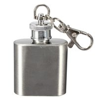 Wholesale High quality oz stainless steel mini hip flask with keychain personlized logo is available