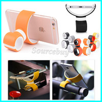 bicycle lock mounting bracket - Lucky Lock Double C Design degree Rotation Car Vent Mount stands Bicycle Bracket for iPhone Samsung Smartphone Holders