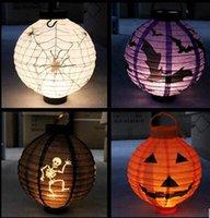 big lantern ghost - Halloween Halloween items bar decoration paper lantern pumpkin lantern pumpkin ghost light with light