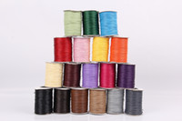 Wholesale Wax Leather Braided Round Cord Beading String Wire For Necklacee Bracelets Jewelry Making Sizes Colors
