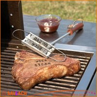 barbeque tool sets - BBQ Barbeque Branding Iron Tools Set Changeable Letters Meat Steak Burger DIY Barbecue With retail box
