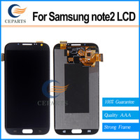 note 2 lcd screen - Good quality For Samsung For Galaxy Note N7100 N7105 i317 T88 Lcd Digitizer Display Screen Assembly Grey or white with Frame Fast Shipping